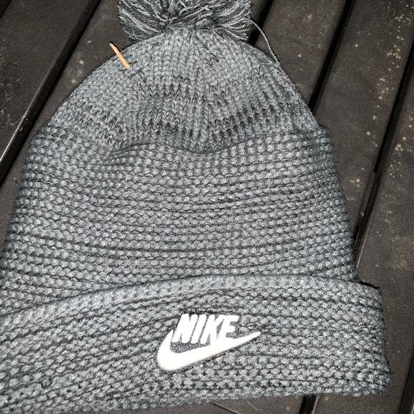Nike, grey beanie